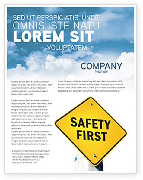 Safety First Flyer Template Background In Microsoft Word Publisher And Illustrator Formats Safety Brochure Template Free
