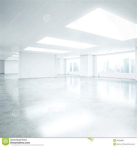 Open Floor Plans With Loft empty white office interior stock photo image 44250588