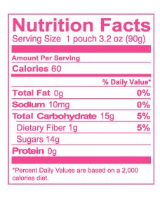 fruit 2 0 nutrition facts strawberry fruit snack nutritional label pictures to pin