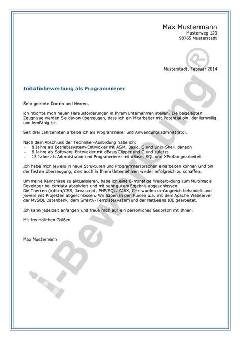 Initiativbewerbung Anschreiben Pdf initiativbewerbung anschreiben muster pdf 28 images