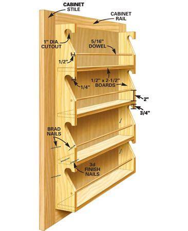 Cabinet Door Spice Rack Plans 140 Best Organiseren Kruiden En Voorraad Images On Pinterest Kitchen Storage Storage And
