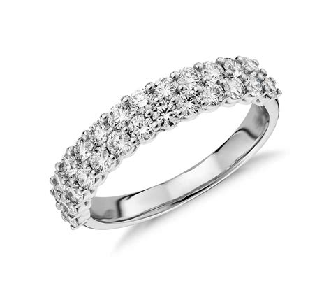 row ring in 18k white gold 1 15 ct