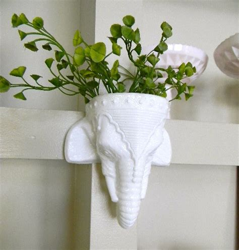 Elephant Wall Planter white elephant wall hanging planter 1 home lilys design