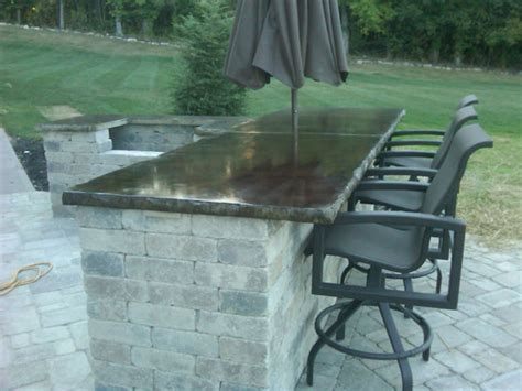 Outdoor Bar Tops by G M Concrete Concrete Countertops