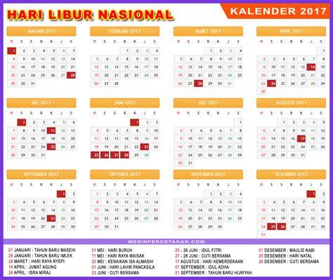 Kalender 2018 Indonesia Lengkap Dengan Hari Libur Nasional Kalender 2017 Lengkap Hari Libur Nasional Dan Cuti Bersama