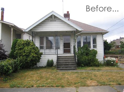 home design before and after before after an exterior renovation in seattle