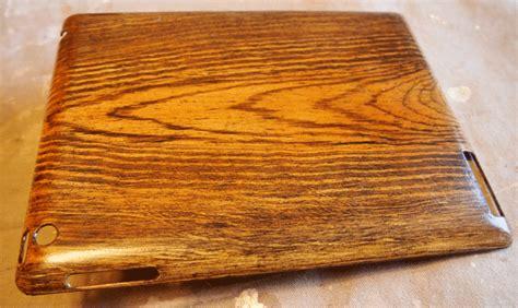 ipad case faux wood paint tutorial