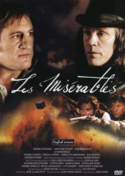 gerard depardieu in les miserables les mis 233 rables g 233 rard depardieu dvd laserdisken dk