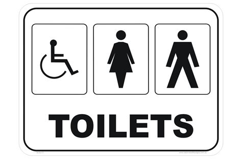 Toilet Sign toilet signs restroom signs national safety signs