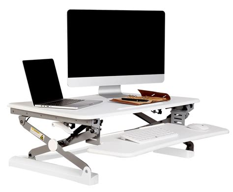 Rapid Riser White Height Adjustable Sit Stand Desk Standing Desk Riser