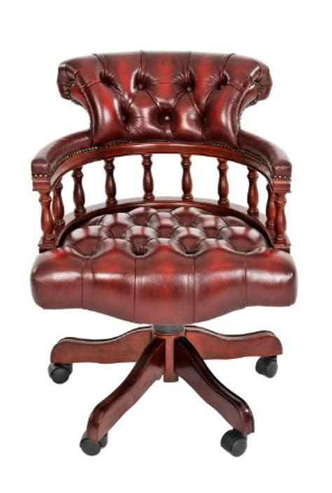 Antique Leather Chesterfield Captains Armchair Swivel Chesterfield Swivel Chair