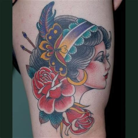 gypsy moth and roses tattoo tattoos pinterest