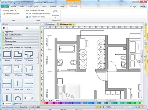 2d Home Design Software Free Download For Windows 7 by Easy Drafting Software Edraw