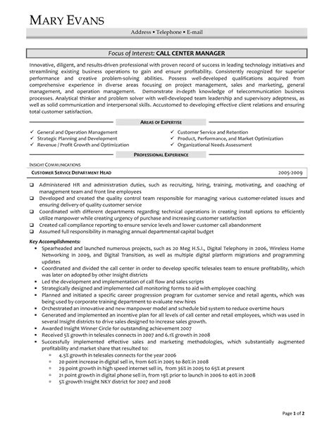 resume format sle for call center without experience sle resume for call center representative resume ideas