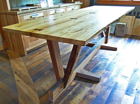 Build Your Own Picnic Table Kit by Reclaimed Wood Dining Table Timber Frame Case Study