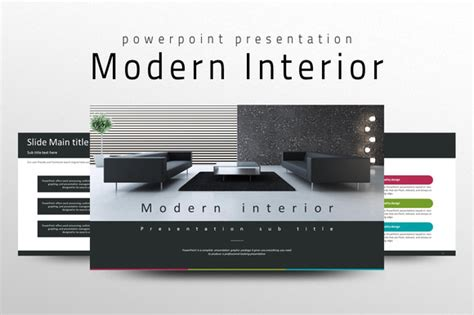 Modern Interior Ppt Template Presentation Templates On Creative Market Interior Design Presentation Templates