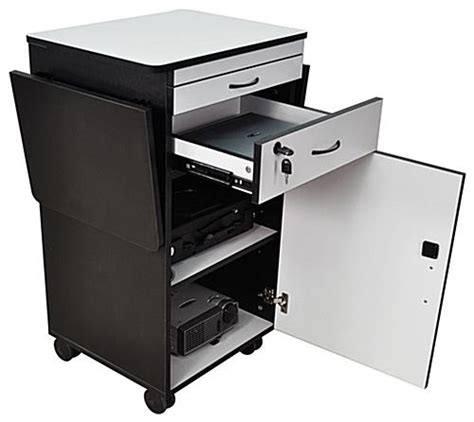 multimedia cart with locking cabinet multimedia stand for classrooms features built in locking