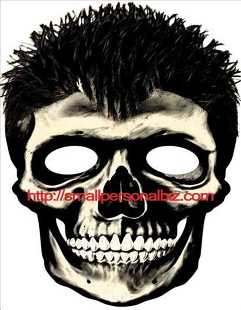 printable scary halloween masks for free 9 best images of homemade halloween masks printable