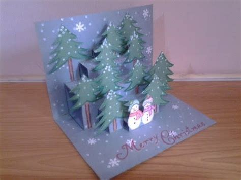christmas card 3d making diy 3d pop up card easy how to make tcraft greeting cards