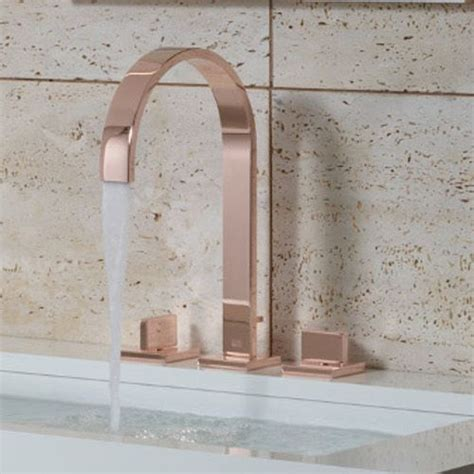 gold taps for bathrooms dornbracht mem range in cyprum finish interior trends