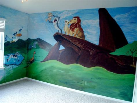 lion king wallpaper for bedroom lion king mural baby s room pinterest baby boy