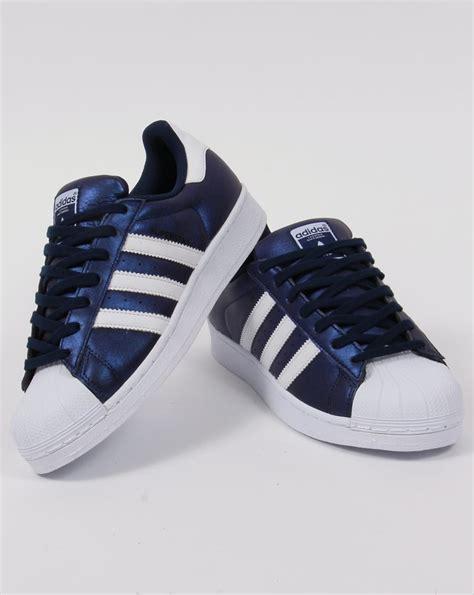 adidas superstar trainers bold bluewhiteoriginalsshell