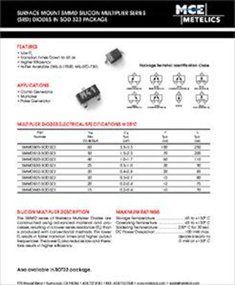 surface mount step recovery diode smmd 832 datasheet surface mount step recovery diode