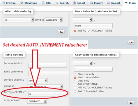 Sql Change Value In Table Sql How To Reset The Auto Increment Number Column In A Mysql Table Stack Overflow