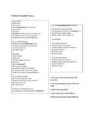 California King Bed Lyrics by Teaching Worksheets And
