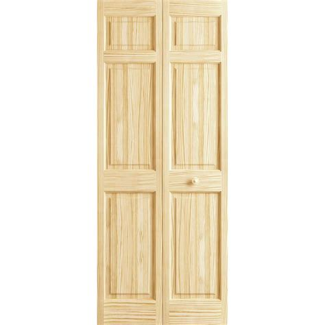 interior door frames home depot frameport 24 in x 80 in 6 panel pine unfinished premium interior closet bi fold door 3115321