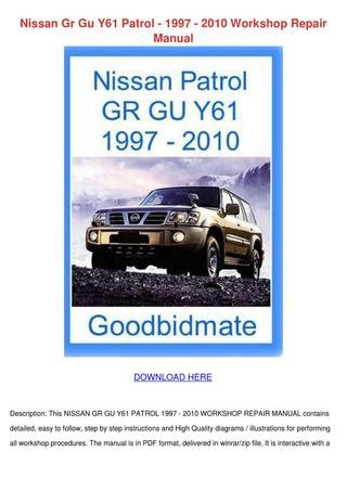 nissan patrol service repair manual download pdf autos post nissan patrol gr y61 service manual repair manual workshop html autos weblog