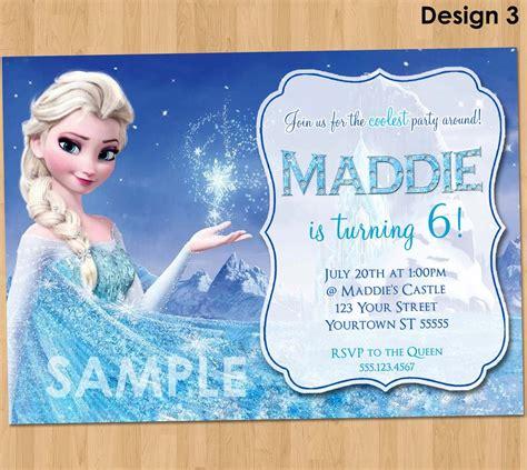 frozen themed birthday messages frozen birthday invitation elsa frozen by