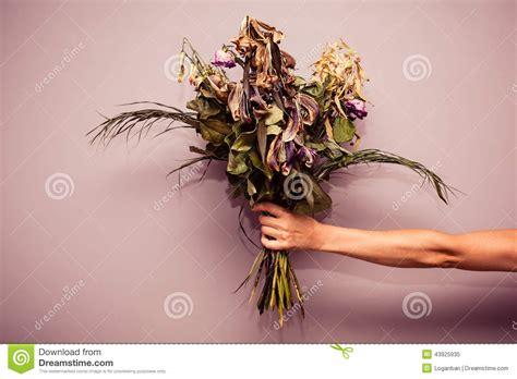 fiori dei morti mano con i fiori morti fotografia stock immagine 43925935