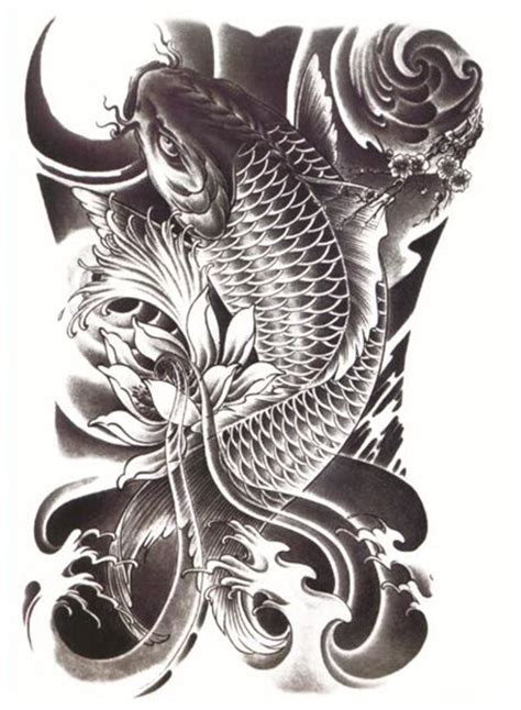 black koi tattoo black koi tattooforaweek temporary