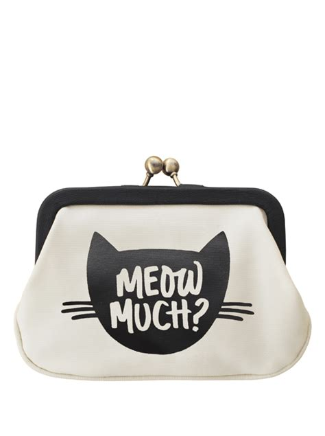 Clutch Meow 1 meow cat purse gifts for cat alphabet bags