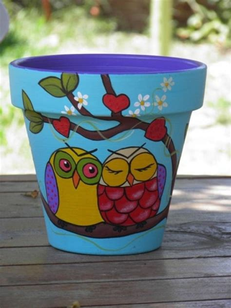pot designs ideas paint a flower pot 50 cool ideas one decor