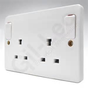 mk logic k1246whi double socket non standard earth pin