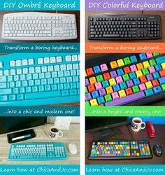 computer keyboard tutorial online diy colorful computer keyboard how to ideas arts and