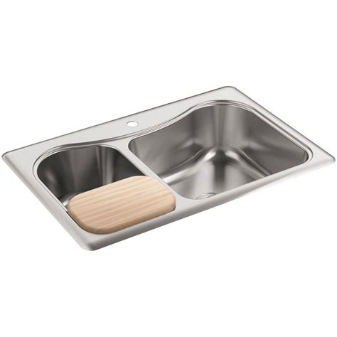 Kohler Staccato Kitchen Sink Kohler Staccato Drop In Stainless Steel 33 In 1 Basin Kitchen Sink K 3361 1 Na