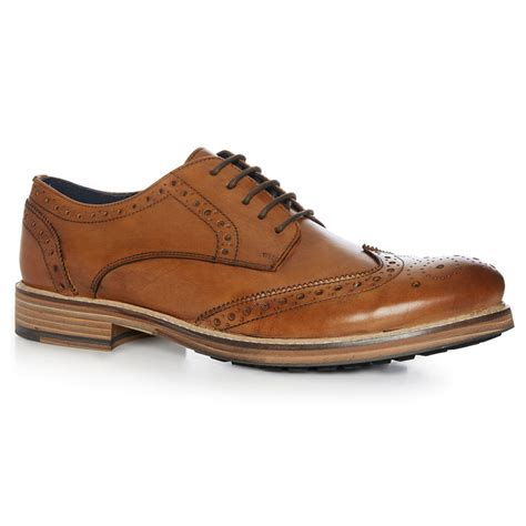 leather brogue shoe farrell clothing