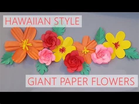 How To Make Hawaiian Flowers Out Of Paper - diy hawaiian style paper flowers flores de papel