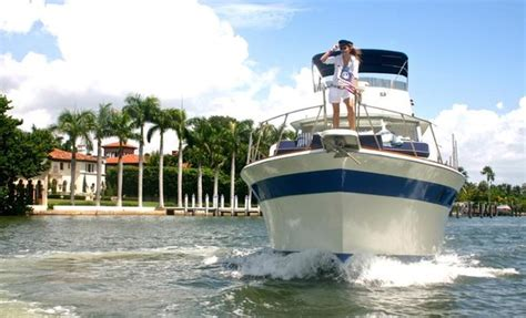 miami beach boat rental with captain 45 commander is the perfect party boat picture of