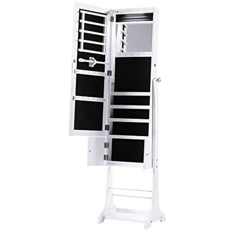 Length Mirrored Jewelry Armoire by Langria Led Jewelry Armoire Lockable Jewelry Cabinet
