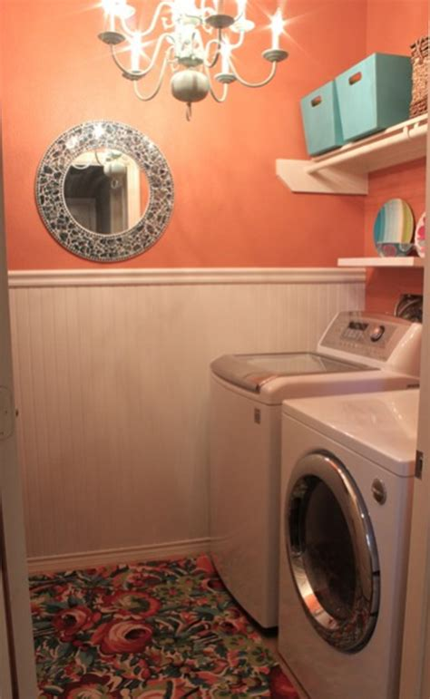 orange and small laundry room layouts 2013
