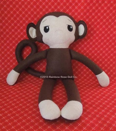 rag doll monkey sewing monkey cloth rag doll pattern pdf leroy monkeys