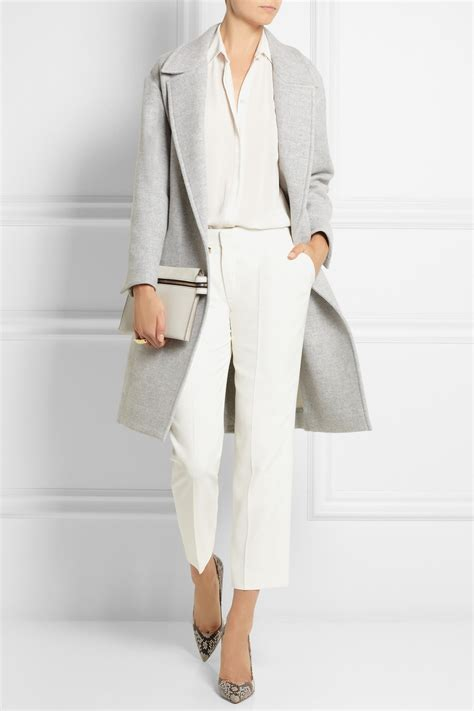 Ho2888 Topi Fashion Winter Wool Grey issa robin oversized wool blend coat in gray lyst
