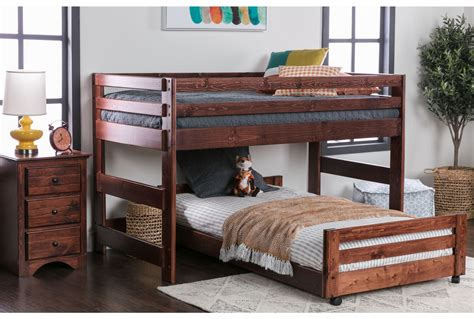Sedona Junior Loft Bed W Twin Caster Bed Living Spaces Loft Caster Bed