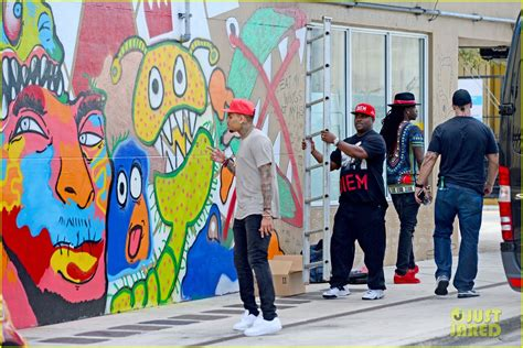 Wall Murals Art full sized photo of chris brown paints the town in miami
