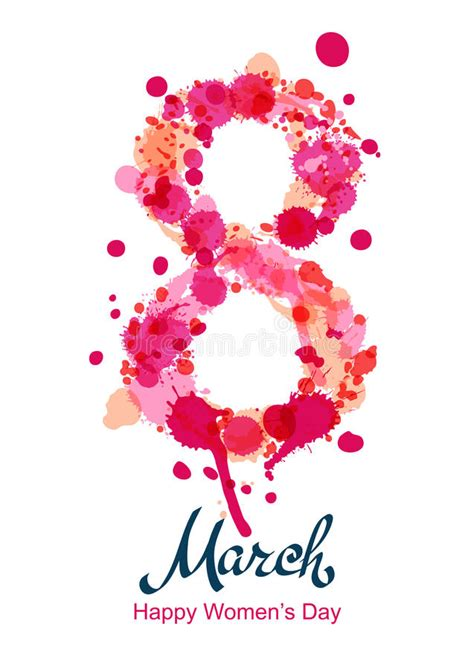 ocho daas de marzo 8 de marzo tarjeta de felicitaci 243 n aviador o bandera vertical w internacional ilustraci 243 n del