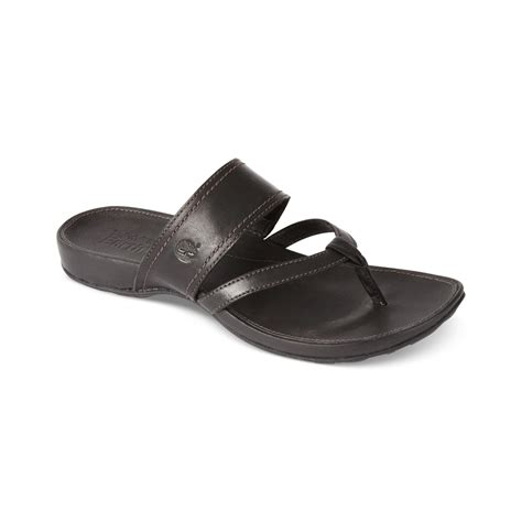 lola sandals timberland womens lola bay sandals in black lyst